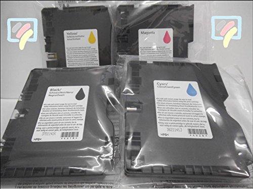 Preisvergleich Produktbild Ricoh SG41 Multipack - je 1x black, cyan, magenta und yellow Originalpatrone - GC41MP für Ricoh Aficio SG 3100 snw, SG 3110 dn, SG 3110 dnw, SG 3110 n, SG 3110 sfnw, SG 7100 dn, SG-K 3100 dn Drucker