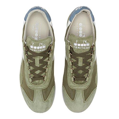 Diadora Equipe Stone Wash 12, Scarpe Low-Top Unisex Adulto Verde militare