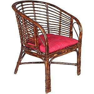 A&E A & E braun Stuhl aus Rattan & Geflecht