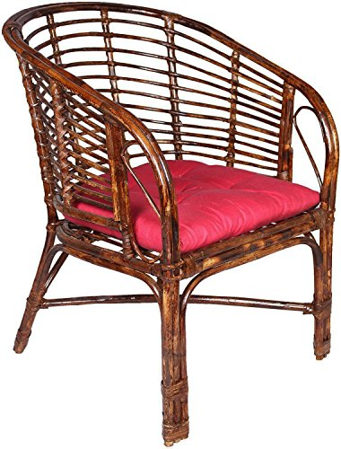 Cane-rattan-möbel (A&E A & E braun Stuhl aus Rattan & Geflecht)