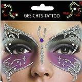 TrendandStylez Gesichts-Tattoo Face Art Halloween Karneval Schmetterling