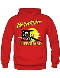 Baywatch Kapuzenpullover | David Hasselhoff | Fun | Rettungsschwimmer | Herren | Männer | Malibu | Kult