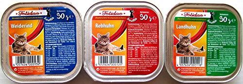 Felidae Katzenfutter 3 Sorten Soufflè/Ragout 207 x 90g