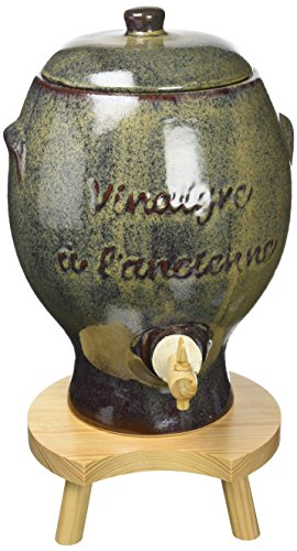 Duhalle-327 - Vinagrera a la Antigua de cerámica, Color Gris