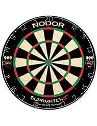 Nodor Supamatch 2 Cible de fléchettes Noir