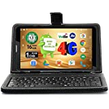 Ikall N4 Tablet (7 inch, 16GB, 4G + LTE + Voice Calling), Black with Keyboard