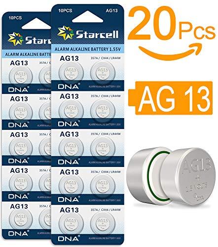 Act AG13 LR44 Button Cells Batteries A76 L1154 SR44 G13 357 1.5 V Pack of 20