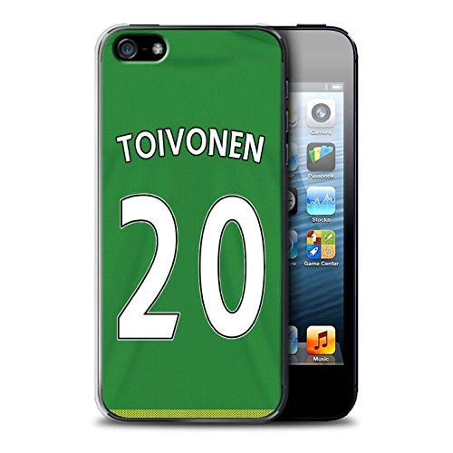 Offiziell Sunderland AFC Hülle / Case für Apple iPhone 5/5S / Kone Muster / SAFC Trikot Away 15/16 Kollektion Toivonen