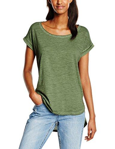 Urban Classics TB1196 Damen T-Shirt Ladies Long Back Shaped Spray Dye Tee Grün (Olive 176), Small