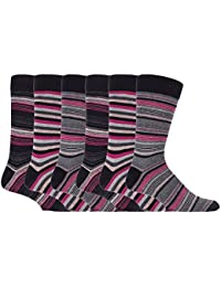 Sock Snob - Mens 6 pack colourful striped patterned luxury casual dress business cotton socks in 7 styles