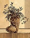Fertig-Bild - Claudia Ancilotti: Kairo 40 x 50 cm modernes Stillleben in braun mit Vasen Zweigen