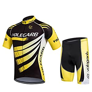 Summer Cycling Clothing for Men and Women - Cornasee Cycling Set Maillot y Gel Shorts