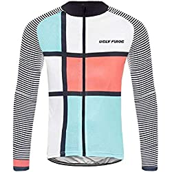 Uglyfrog Bike Wear Bicicleta Jersey Hombre Invierno Fleece Montar Transpirable Ciclo Chaqueta Ropa Bici Camisas de Manga Largas Abrigo del Viento XS-6XL