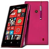 (Hot Pink) Nokia Lumia 520 / 525 Schützende Hybrid Hard Shell Skin Case Hülle Cover, Aus- und einfahrbarem Touch Screen Stylus Pen & LCD-Screen Protector Guard von Spyrox