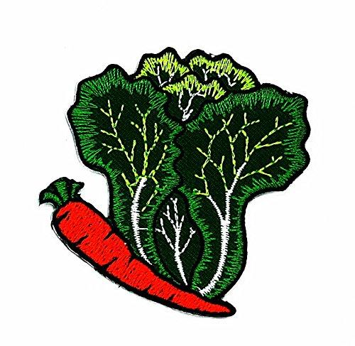 Gemüse weiß Karotten Cartoon Kids Kinder Cute Animal Patch für Heimwerker-Applikation Eisen auf Patch T Shirt Patch Sew Iron on gesticktes Badge Schild Kostüm (Karotte Kind Kostüme)