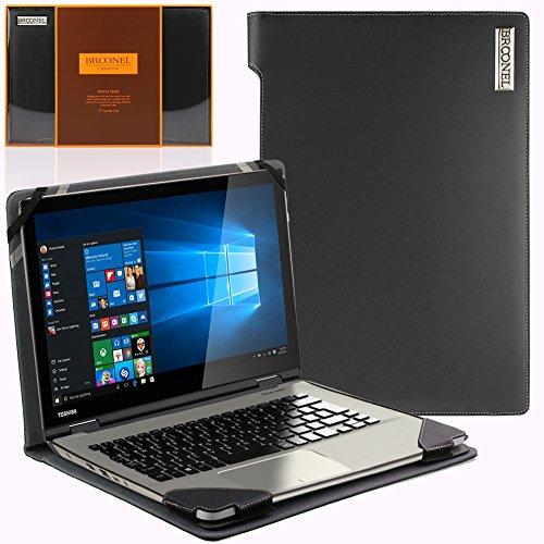 Navitech Schwarzes Echtleder Case Cover Tasche für das Toshiba Portege Z30T-A