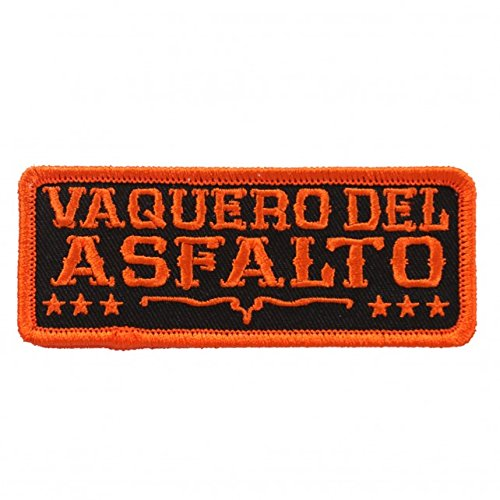 vaquero-del-a-sfalto-asphalt-cowboy-high-thread-embroidered-iron-on-saw-on-heat-sealed-backing-rayon