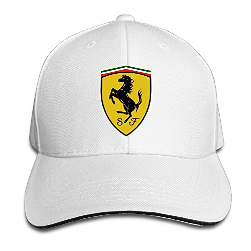 Yhsuk Ferrari Sandwich Peaked Hat/Cap White