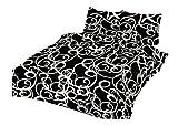 Bettwäsche-Set Baumwolle Garnitur in vielen Qualitäten und Größen mit Marken Reißverschluss (Microfaser 155x200 cm 4tlg, David)