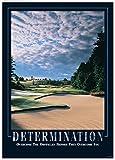 Die besten Golfplätze Poster - Seco Entschlossenheit Golfplatz Motivational Poster gerahmt Art Wand Bewertungen