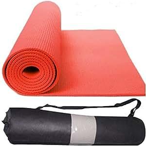 Quick Shel QS-MZH17G2 Yoga Mat Combo, 4mm (Red)