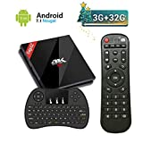 EstgoSZ Android TV Box 3GB RAM + 32GB ROM Android 7.1 mit Amlogic S912 Octa-Core 64 Bits Smart TV Box 4K Ultra HD Bluetooth 4.1 Dual WiFi 2.4GHz / 5GHz 1000 LAN H.265 3D mit Klein Kabellose Tastatur