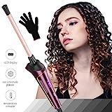 Rizador de Pelo, Rulos de Cerámica de 9 mm,LCD Digital Chop Stick Style Hair Curler-Para Hombre/Mujeres/Niños -Enchufe de la EU