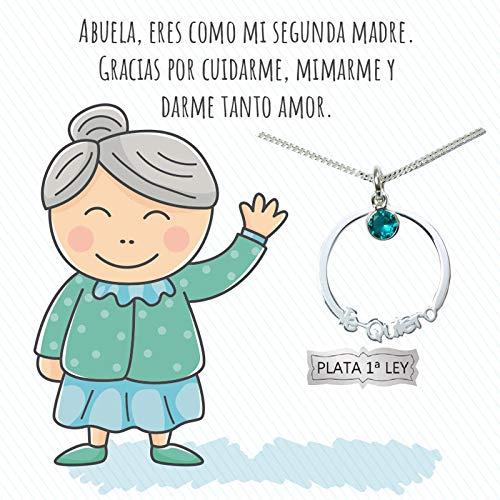 Collar Karma con mensaje para abuela Plata de Ley 925 | Regalo a la mejor Abuela | Joyas para regalar | Envío gratis