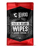 BEARDO Face and Beard Wipes for Cleansing and Refreshing - Set Of 10