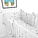 Tour de lit avec schärpen multicolores pour le lit bébé 70x 140cm lit Tour de lit tour de lit tête Protection Nid