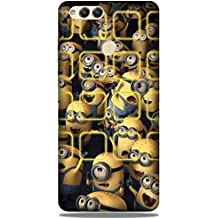 Yashas Slim Fit Designer Plastic Printed Case Cover for (Huawei Honor 7X (Manny Minions)