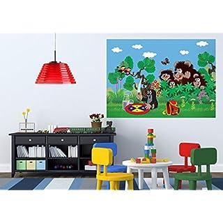 AG Design FTM 0853  Der kleine Maulwurf, Papier Fototapete Kinderzimmer - 160x115 cm - 1 Teil, Papier, multicolor, 0,1 x 160 x 115 cm