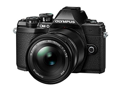Olympus OM-D E-M10 Mark III Systemkamera (16 Megapixel, 5-Achsen VCM Bildstabilisator, elektronischer Sucher mit 2,36 Mio. OLED, 4k Video, WLAN) Kit silber inkl. 14-42mm Objektiv silber + M.Zuiko Digital ED 40-150 mm Objektiv schwarz - 3
