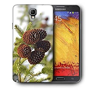 Snoogg Brown Flower Printed Protective Phone Back Case Cover For Samsung Galaxy NOTE 3 NEO / Note III