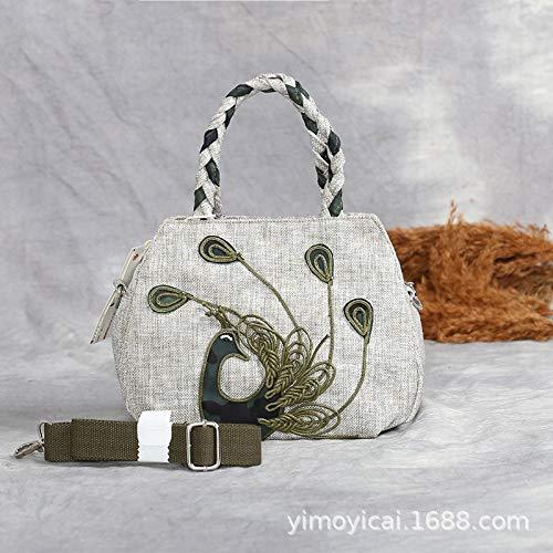 LFGCL Taschen damenHandgestrickte Tasche Tragbare Tasche mit doppeltem Verwendungszweck, leicht und praktisch, langlebig, Vintage