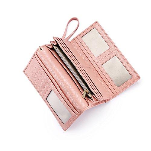 Geldbörse Damen Leder Rfid Geldbörse Brieftasche