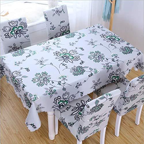 Einfach und modern Umweltschutz Polyester Rechteckige Tischdecke Wiederverwendbare Mehrzwecktischdecke Geeignet für Innen und Außen 140x140cm ()