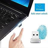 WECAM Mini Portable USB Fingerprint Reader for Windows 10/8/8.1/7 Hello. Big Size European