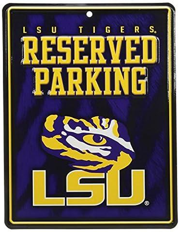 NCAA LSU Tigers Hi-Res Metal Parking Sign
