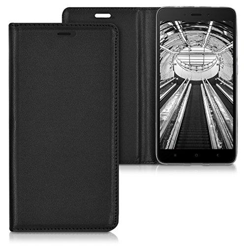kwmobile Xiaomi Redmi Note 4 / Note 4X Hülle - Kunstleder Handy Schutzhülle - Flip Cover Case für Xiaomi Redmi Note 4 / Note 4X - Schwarz