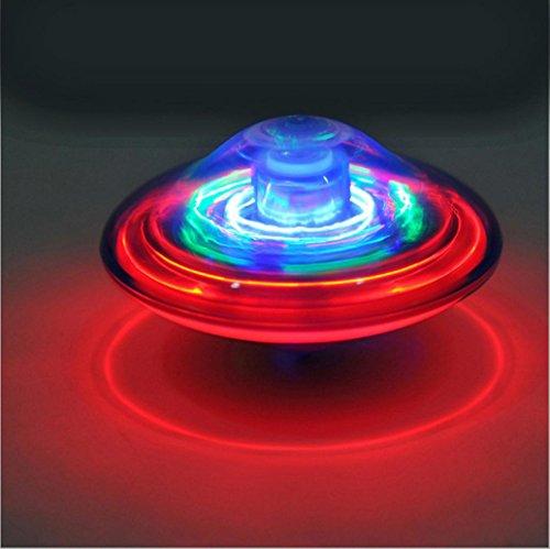 endes Spielzeug mit LED Musik Kinderspielzeug Babyspielzeug Kindergeburtstag Elektrische Peg-Top (9,5cm, zufällige Farbe) ()