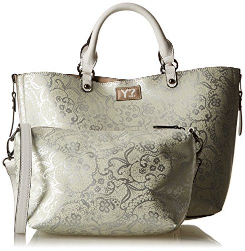 YNOT K-40, Borsa Tote Donna, 43 x 28 x 18 cm (W x H x L) Multicolore (Silver-Cool5)