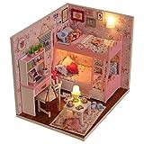 Itian DIY Casa di Bambola in Legno In Miniatura Casa Kit