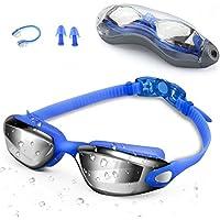 Zerhunt Schwimmbrillen für Erwachsene, Schwimmbrille mit Antibeschlag und UV Schutz, Ohrstöpsel & Nasenklammern mitgeliefert, für Männer Frauen Kinder