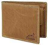 Fa.Volmer ® Schlanke Büffelleder Geldbörse Usedlook mit RFID-Schutz #16112-Camel