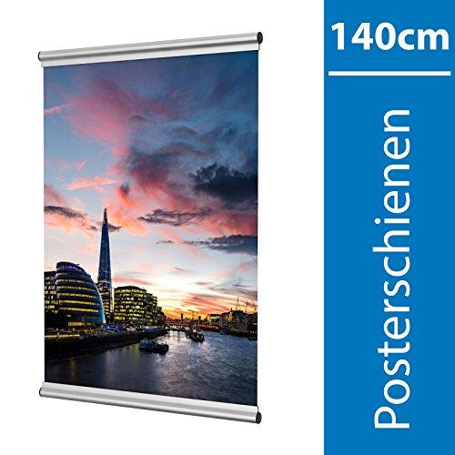 140 Skala (Leha Posterschienen, Posterclip, Plakatschienen Set 140cm Aluminium Eleganz)