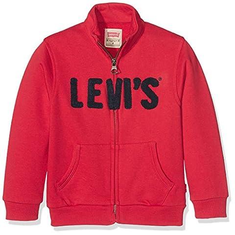 Levis Kids Zipper Redy, Sweat-Shirt Garçon, Rot (Pompeian Red 38), 12 Ans