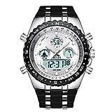Relojes Hombre Deportivo Binzi, Digital Watch analogico Caballero, Reloj de Pulsera Militar,Resistente al Agua Calendario Fecha Cronografo