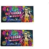 Nirvanaa Brown King Size Slim 33 Leaves Luxury Rolling Paper/Smoking Paper +Tips (Pack Of 2)