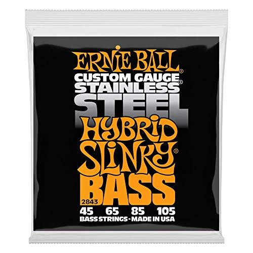 Ernie Ball Hybrid Slinky Edelstahl E-Bass Saiten - 45-105 Gauge
